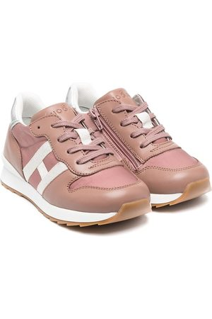 Hogan Lace-up leather trainers