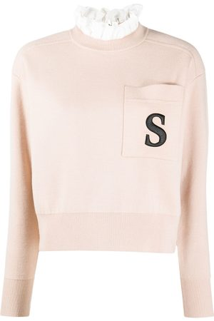 Sandro Lucille embroidered detail jumper