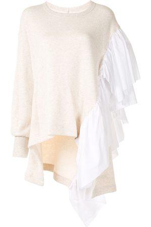 YOHJI YAMAMOTO Ruffle-detail cotton jumper