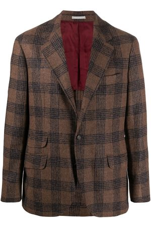 Brunello Cucinelli Single breasted check blazer