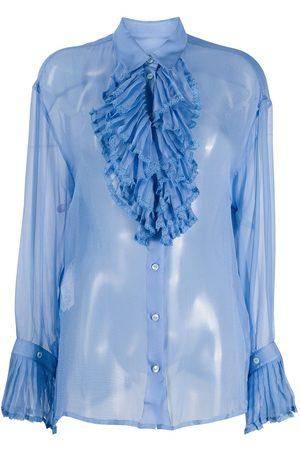 Maison Margiela Sheer ruffled blouse