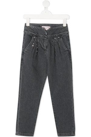 Alberta Ferretti Straight leg studded jeans