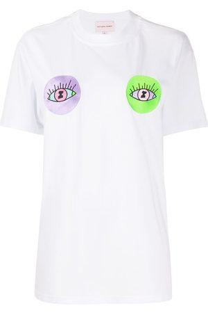 Natasha Zinko Eye embroidered oversized T-shirt