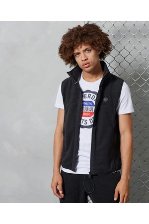 Superdry Zwarte Sportstyle bodywarmer van fleece
