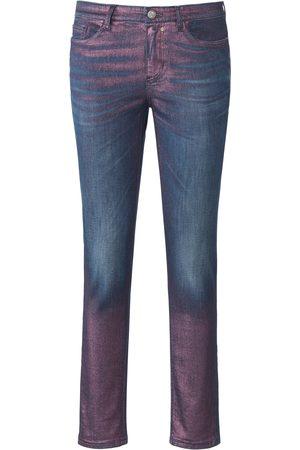 Glücksmoment Dames Skinny - Skinny-jeans model Gill glans-coating Van denim