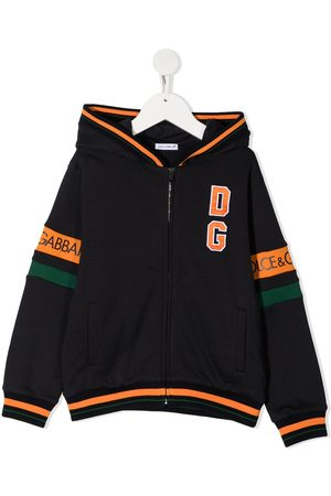 Dolce & Gabbana Contrast logo stripe hoodie