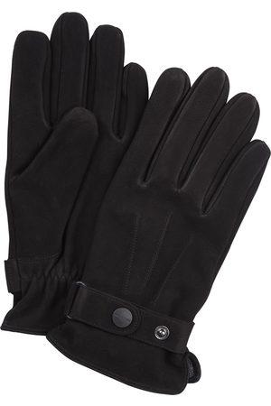 Profuomo Heren zwarte nubuck handschoenen