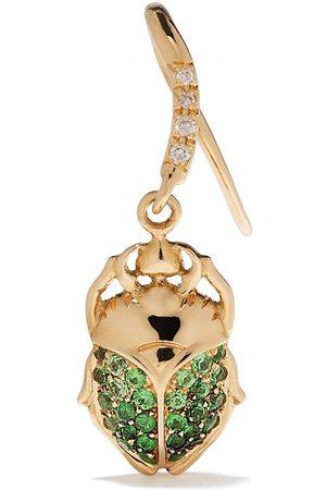 Aurélie Bidermann 18kt yellow diamonds single beetle earring