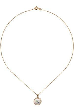 Aurélie Bidermann 18kt yellow sapphire Chivor mini medallion necklace