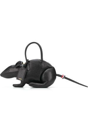 Thom Browne Pebble-grain rat-shape bag