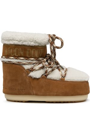 Moon Boot Shearling-trim snow boots
