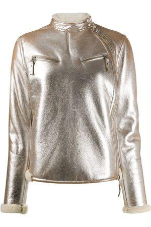 Gianfranco Ferré 2007 metallic biker jacket