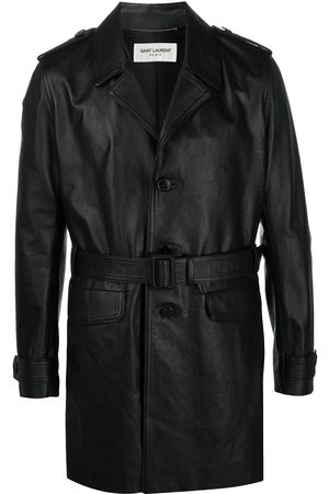 Saint Laurent Single-breasted belted coat