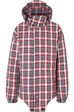 Burberry Check-print parka jacket