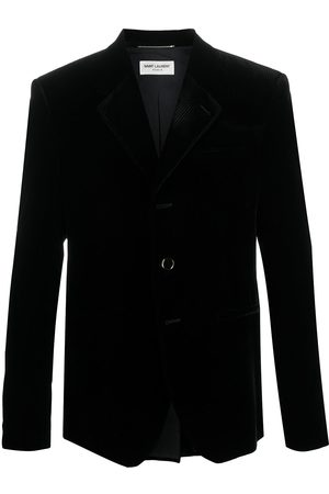 Saint Laurent Single-breasted ribbed blazer
