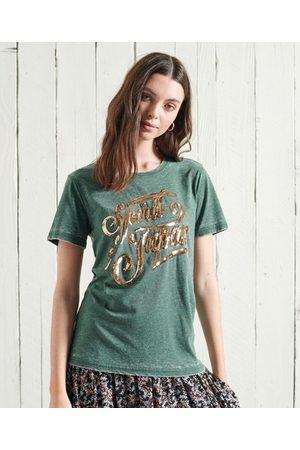 Superdry Off Piste T-shirt met glinstering