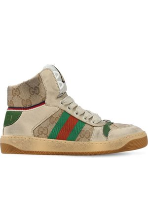 Gucci Web & Gg Canvas High Top Sneakers
