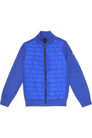 Canada Goose Hybridge wool and nylon down jacket