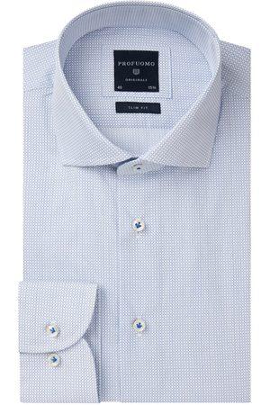 Profuomo Heren lichtblauw poplin overhemd Originale