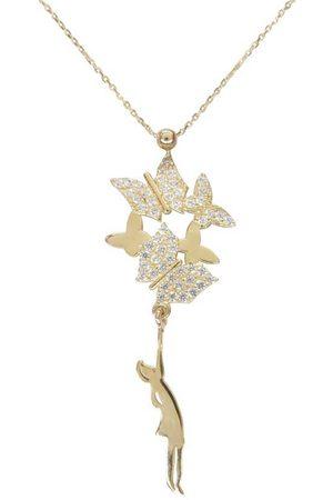 Christian Gouden meisje met vlinders hanger
