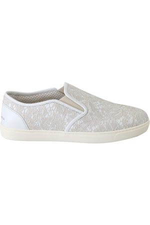 Dolce & Gabbana Leather Lace Slip On Shoes