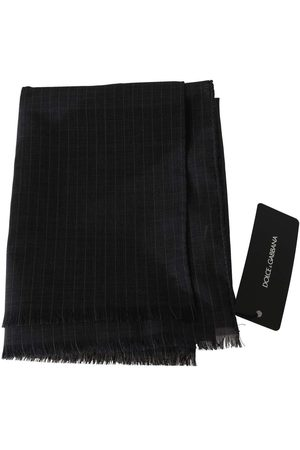 Dolce & Gabbana Wool Striped Pattern Wrap Scarf