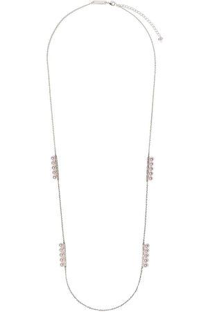 Tasaki 18kt white gold Balance diamond pave and Akoya pearl necklace