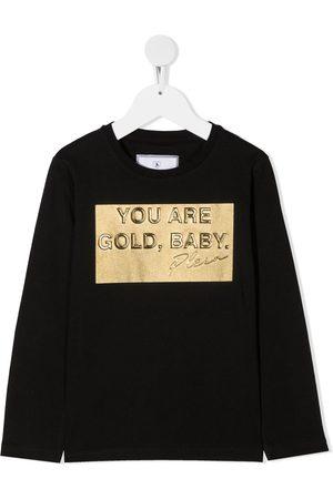 Philipp Plein Gold, Baby long sleeved T-shirt