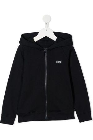 Emporio Armani Logo-patch zip-up hoodie