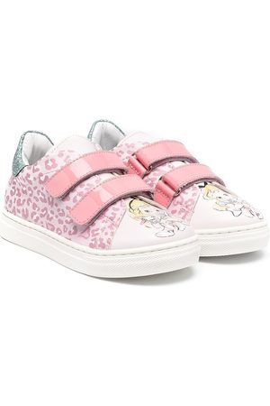 MONNALISA Touch-strap printed trainers