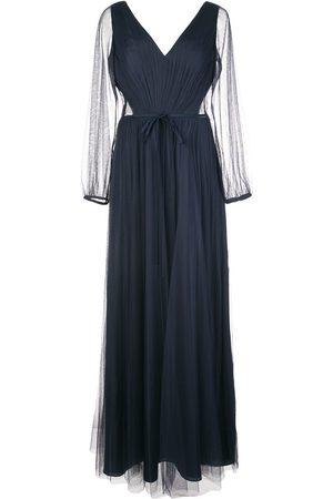 Marchesa Notte Sheer sleeved bridesmaid dress