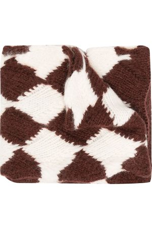 Plan C Jacquard knit scarf