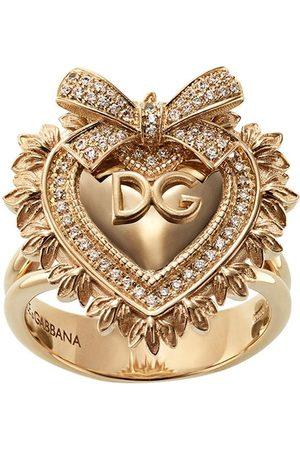 Dolce & Gabbana 18kt yellow diamond Devotion ring
