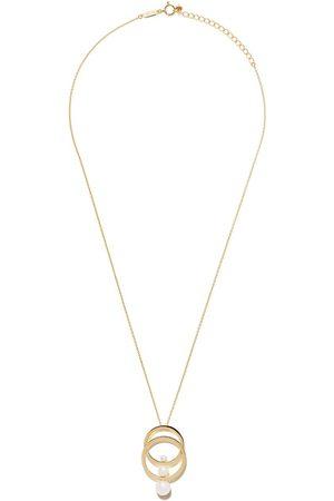 Tasaki 18kt yellow Cosmic Akoya pearl pendant necklace