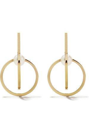Tasaki 18kt yellow Kinetic Akoya pearl earrings