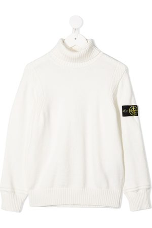 Stone Island Roll neck logo patch jumper