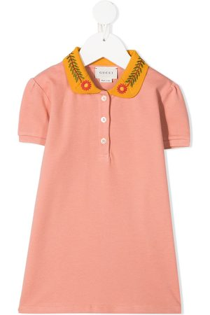 Gucci Floral-embroidered polo shirt