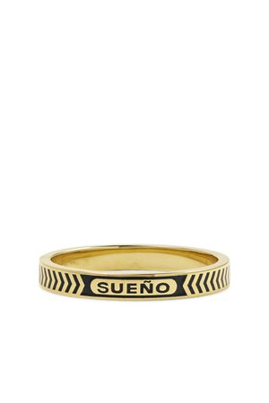Foundrae Dream 18-Karat Gold and Enamel Ring