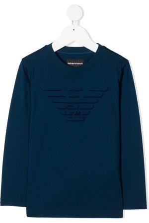 Emporio Armani Long sleeved eagle logo T-shirt