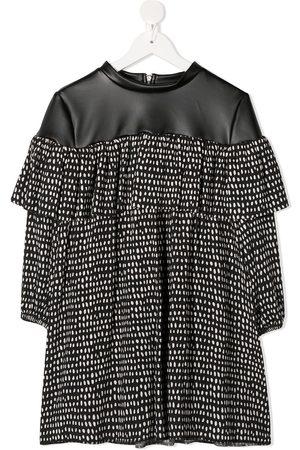Le pandorine Dot-print ruffled dress