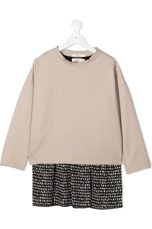 Le pandorine Dot-print contrast dress