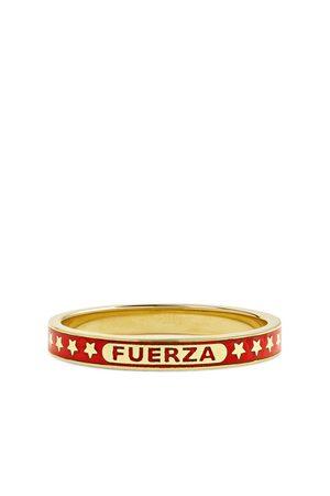 Foundrae Heren Ringen - Fuerza 18-Karat Gold and Enamel Ring