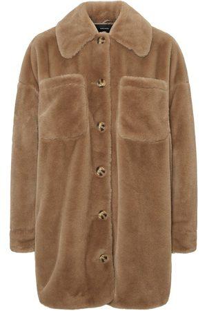 Vero Moda Faux Fur Shirt Jas Dames Roze