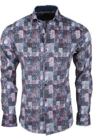 New Republic Heren Overhemden - Dinero milano heren overhemd slim fit bordeaux rood /