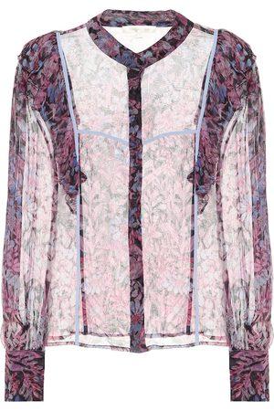 LOVESHACKFANCY Dames Blouses - Beatrix printed chiffon blouse