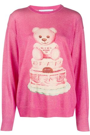 Moschino Cake Teddy print jumper