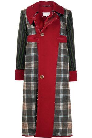 Maison Margiela Check panelled midi coat