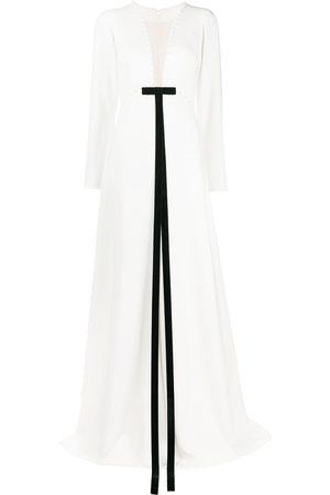 LOULOU Plunge-neck maxi dress