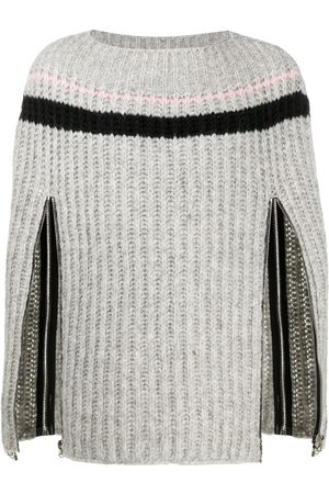 RAF SIMONS Zip-up sleeve knitted jumper