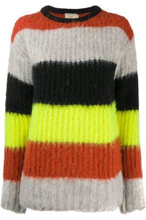 Maison Kitsuné Textured stripe knit jumper